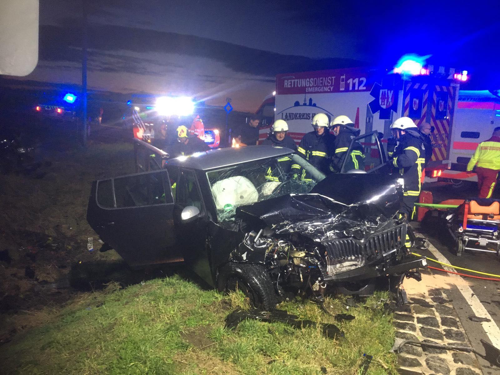 TH2 – Verkehrsunfall eingeklemmte Person / B81 Osterholz-Böhnshausen