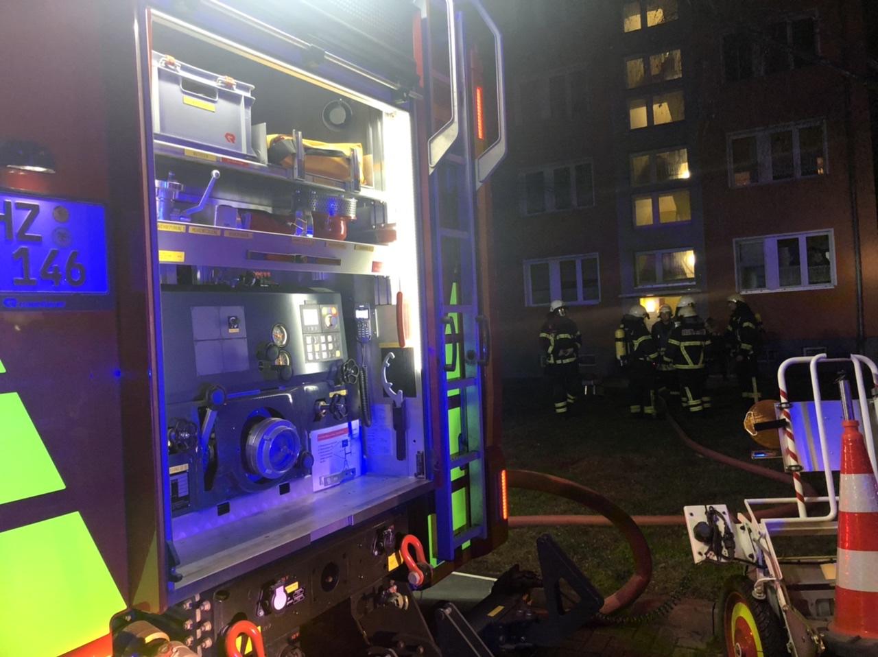 Wohnungsbrand in der Erich-Bordach-Straße