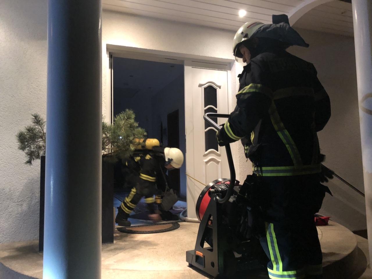 Brand in Einfamilienhaus in der Münchener Straße