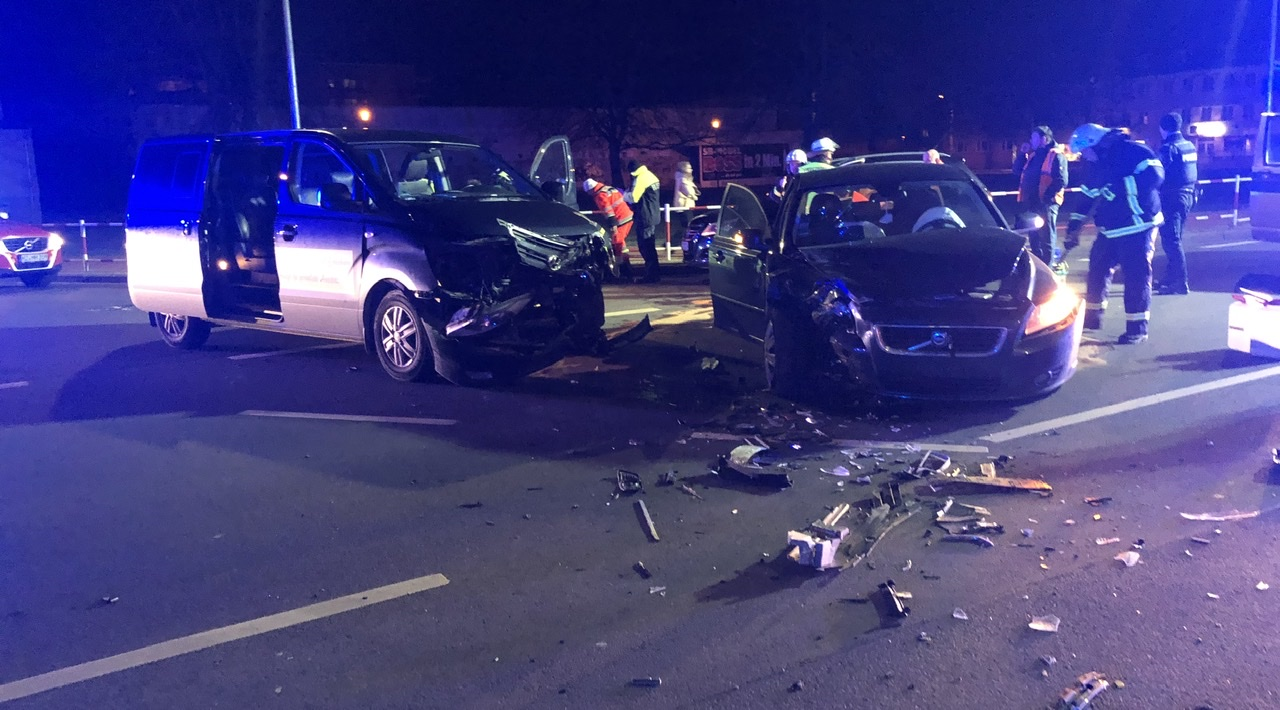 Verkehrsunfall mit 7 Verletzten