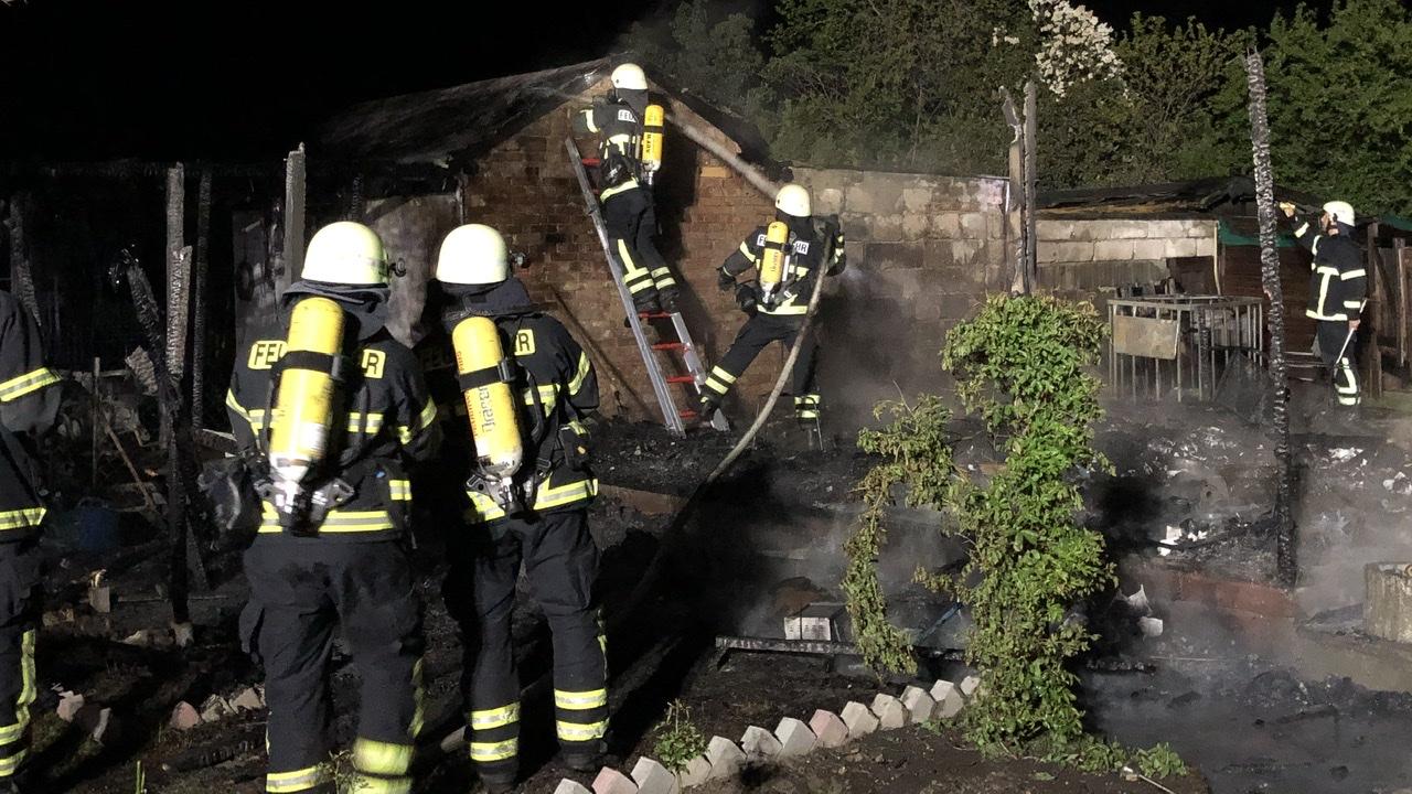 Gartenlaubenbrand im Pulverhausweg