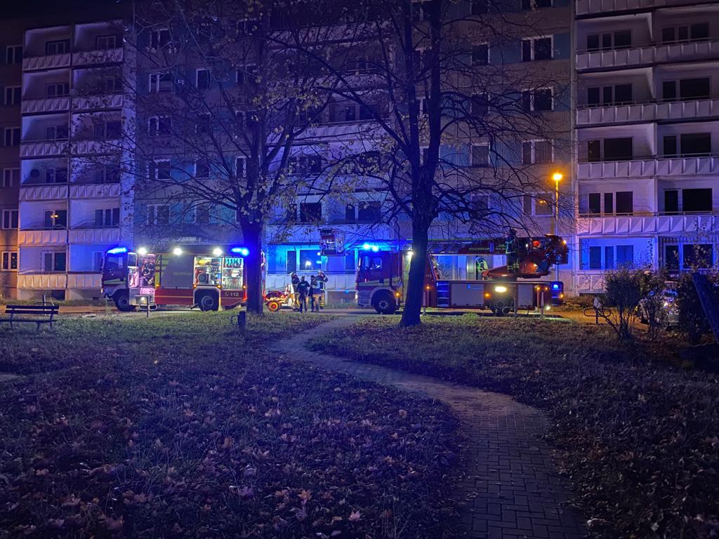 Unklarer Feuerschein – Maxim-Gorki-Straße