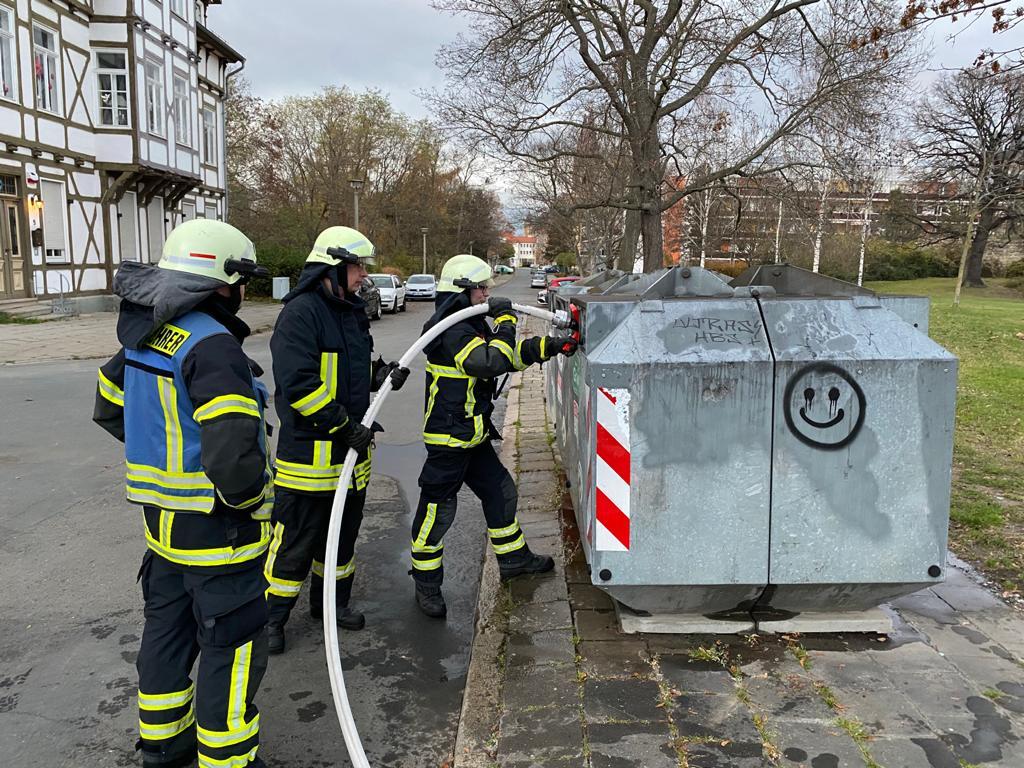 Containerbrand – Heinrich-Julius-Straße/Gerhard-Hauptmann-Straße