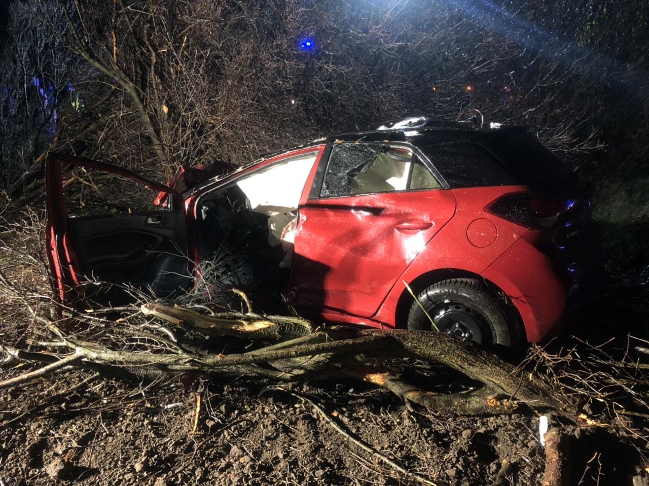 Verkehrsunfall – PKW in Graben – B81 Halberstadt-Wilhelmshöhe
