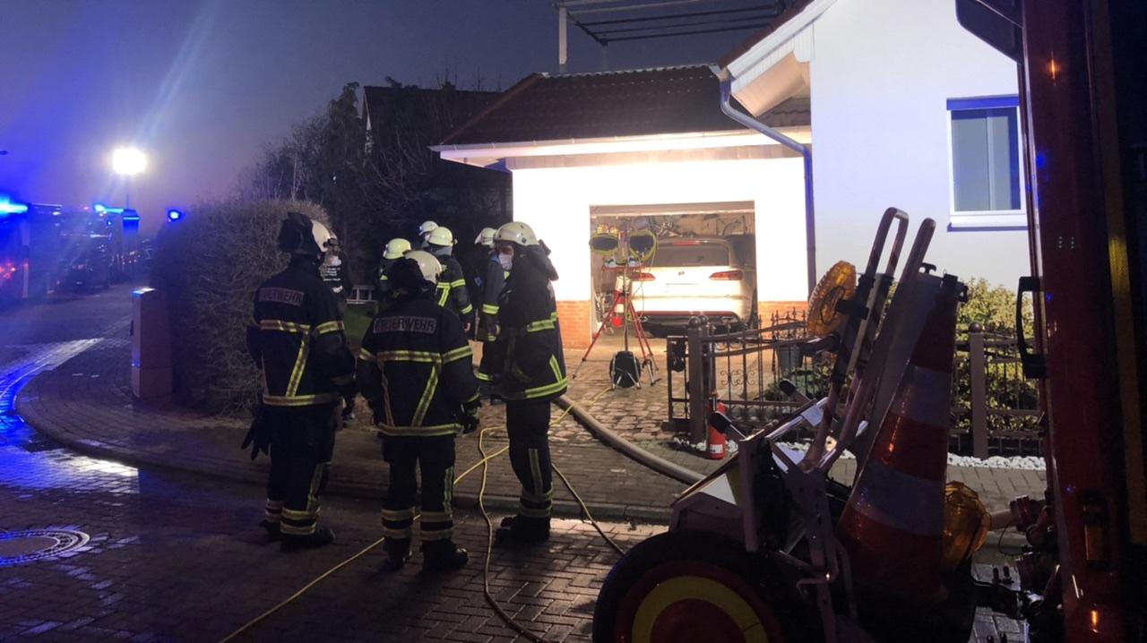 Brand in einer Garage – Pappelweg