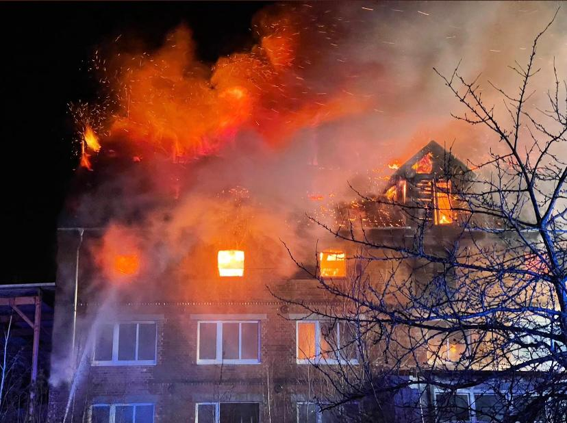 Gebäudebrand an der K1319 bei Emersleben