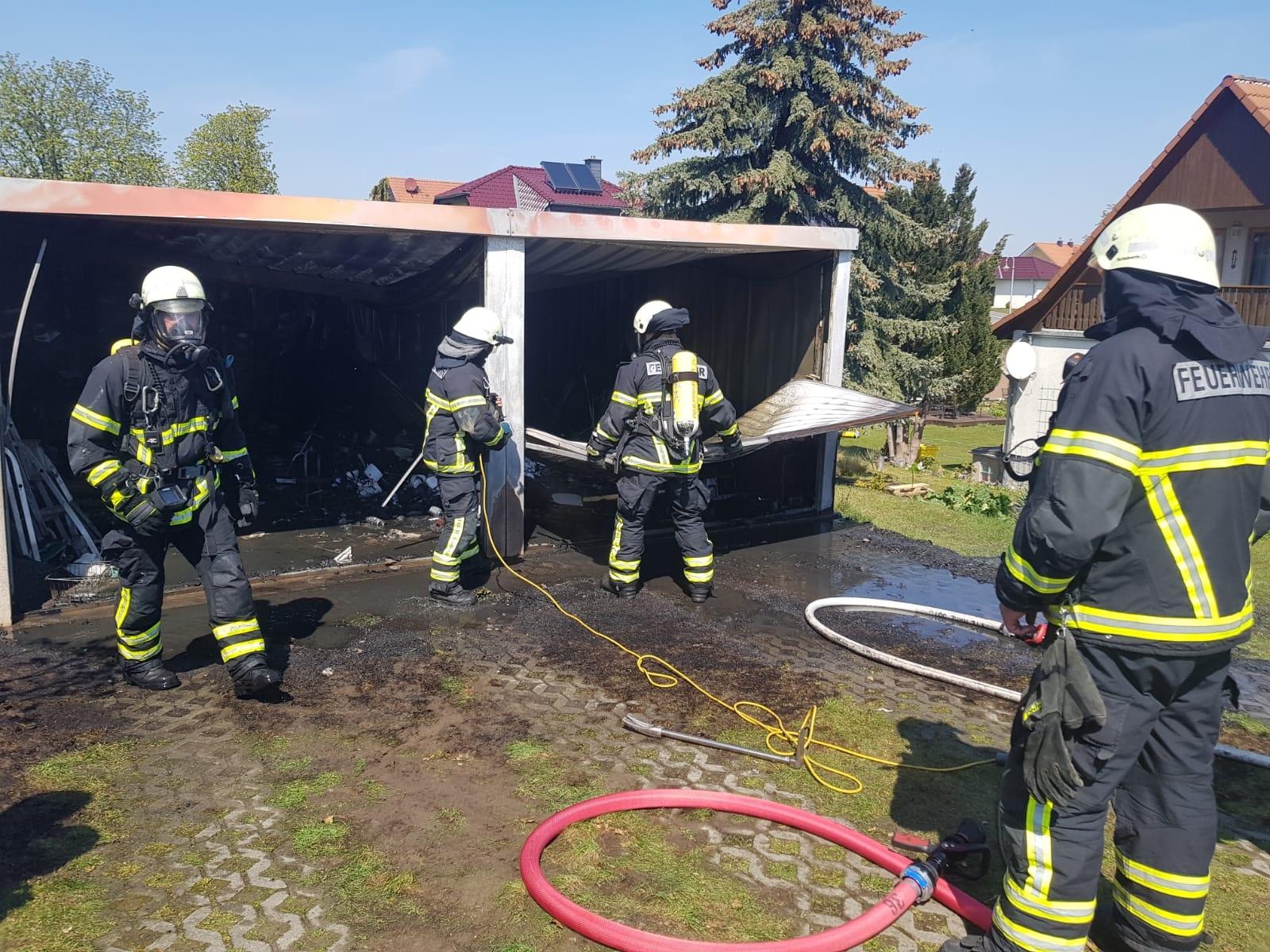 Garagenbrand – Untermühlenweg in Langenstein