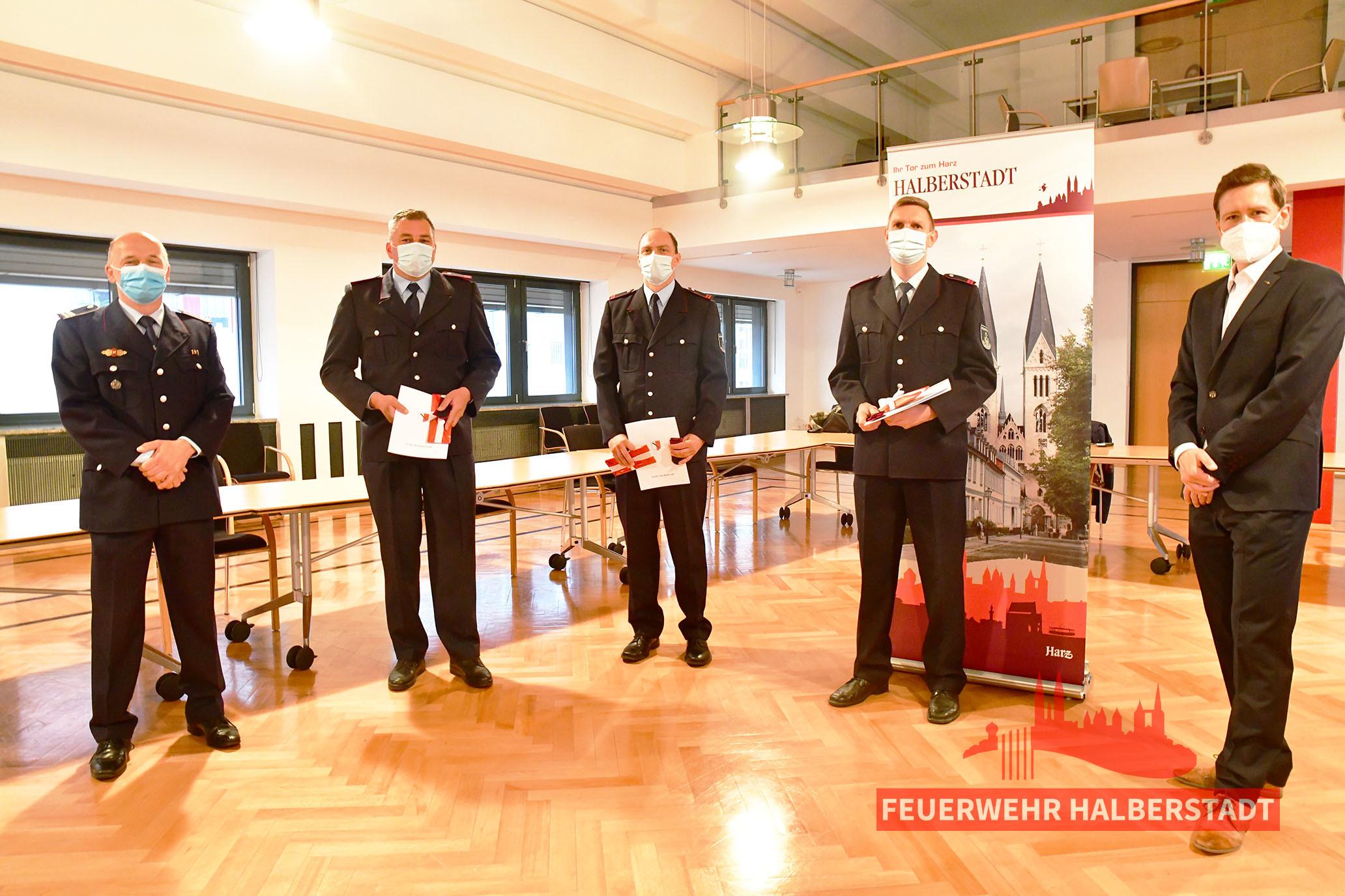 Drei neue Hauptbrandmeister bei der Hauptberuflichen Wachbereitschaft