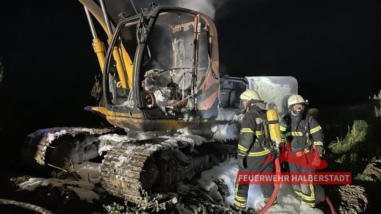 B2 – Brand einer Baumaschine – Ströbeck